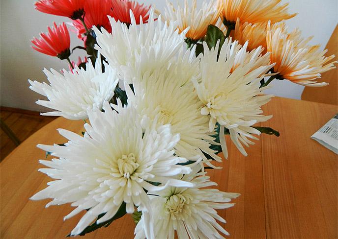 花束を貰った。