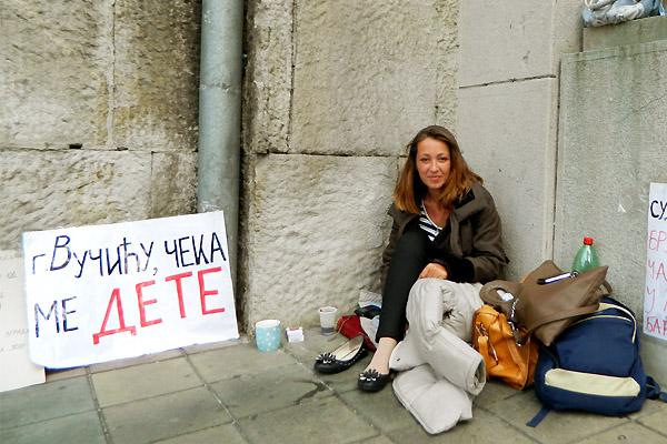 ハンガー(飢餓)ストライキ中のイェレナさん